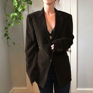 MIU MIU Brown Velvet Blazer Fall Layer Blazer Coat